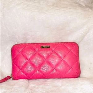 Kate Spade HOT pink Quilted Wallet